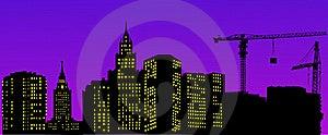 Night Urban Landscape Stock Images - Image: 8615944