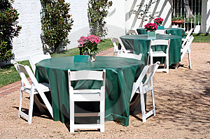 Outside Dining Patio Stock Photo - Image: 8616000