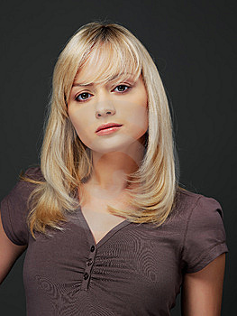 Portrait Blond Woman Stock Photos - Image: 8616363