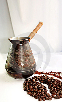 Turkey And Grains Of Coffee Stock Image - Image: 8616381