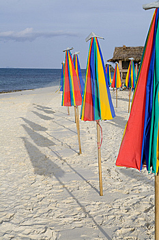 A Row Of Colorful Umbrellas Royalty Free Stock Photos - Image: 8616438