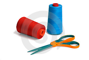 Spools And Scissors Stock Image - Image: 8616521