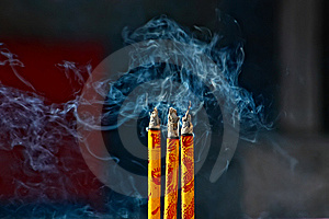 Joss Sticks Stock Photo - Image: 8616790