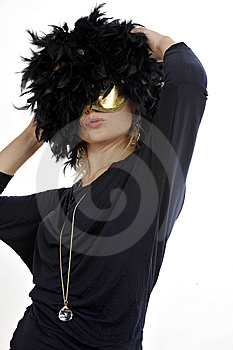 Masquerade Party Lady Stock Photo - Image: 8616990