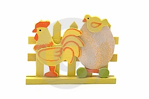 Wooden Easter Chicken And Egg Stock Images - Image: 8616994