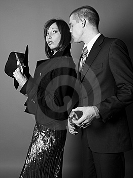 Couple Of Gangsters Stock Photos - Image: 8617023