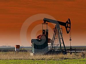 Oil Pump Jack,sunset Stock Photos - Image: 8617123