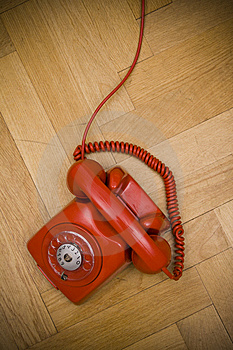 Red Telephone Stock Image - Image: 8617361