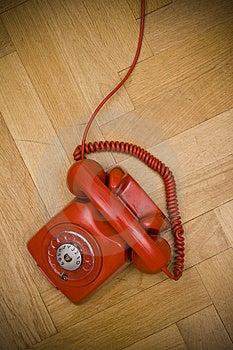 Red Telephone Stock Image - Image: 8617361