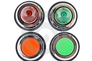 Power Button And Status Indicator Light Stock Images - Image: 8617654