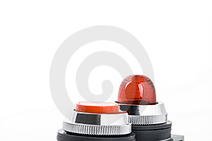 Power Button And Status Indicator Light Stock Photo - Image: 8617720