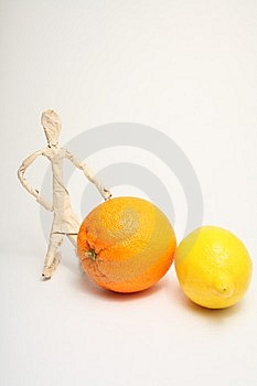 Paper Man With Fruit Royalty Free Stock Photos - Image: 8617808