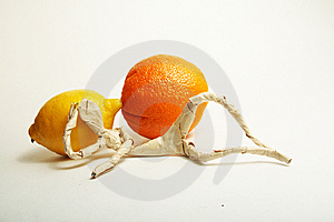 Paper Man With Fruit Stock Photo - Image: 8617850