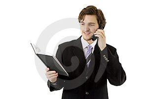 Businessman With Phone And Daily Stock Photography - Image: 8618152