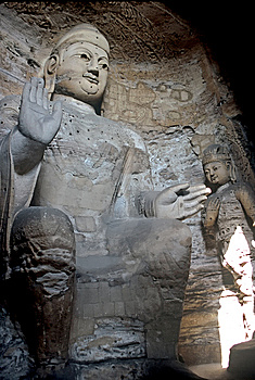 Buddhas In Yungang Caves ,China Royalty Free Stock Images - Image: 8618639