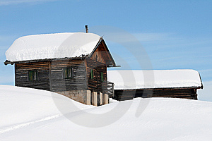 Mountain Landscape, Snow, Chalet Royalty Free Stock Photography - Image: 8618847
