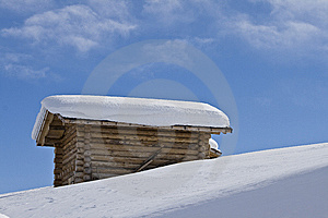 Mountain Landscape, Snow, Chalet Stock Photo - Image: 8618880