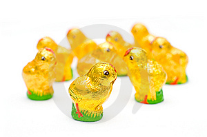 Easter Chocolate Chickens Royalty Free Stock Image - Image: 8619526