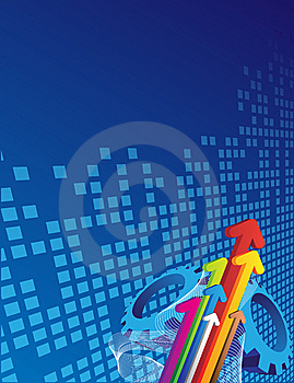 Arrows And Blue Background Royalty Free Stock Images - Image: 8619889