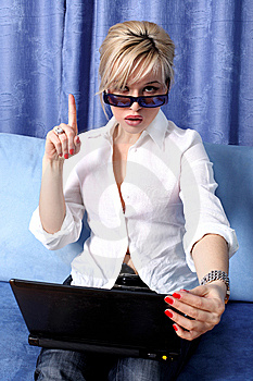 Woman With Notebook Stock Image - Image: 8619891