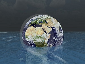 Sinking Earth Stock Photos - Image: 8619963