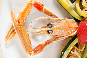 Seafood On A Plate Royalty Free Stock Images - Image: 8620069
