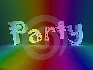Party In Rainbow Colors Stock Photos - Image: 8620183