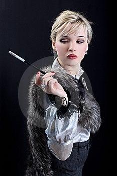 Girl With Fur Stock Photos - Image: 8620273