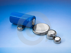 Batteries, Closeup Royalty Free Stock Images - Image: 8620319