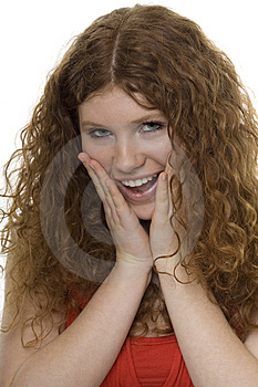 Woman With Gestures Surprise Royalty Free Stock Photography - Image: 8620327