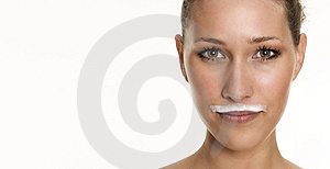Milky Beard Stock Photo - Image: 8620400