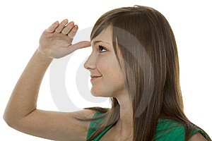 Teenager With Gestures Search Royalty Free Stock Images - Image: 8620499