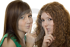 Two Teenager With Gestures Quiet Royalty Free Stock Photography - Image: 8620527