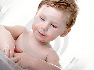 The Boy Washes Stock Photography - Image: 8620622