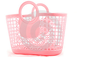 Pink Crocery Bag Stock Images - Image: 8620844