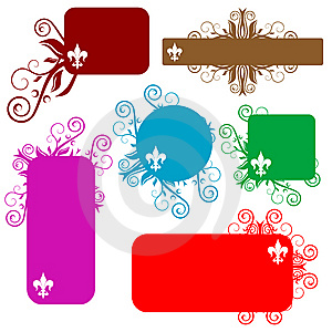 Floral Banners Royalty Free Stock Image - Image: 8621126