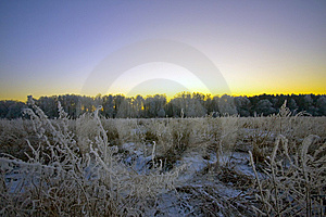 The Winter Sunset. Royalty Free Stock Image - Image: 8621556