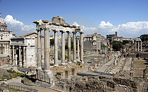 Roman Ruins Royalty Free Stock Photography - Image: 8621927
