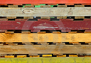 Colored Wooden Pallets - Close-Up Stock Images - Image: 8622294