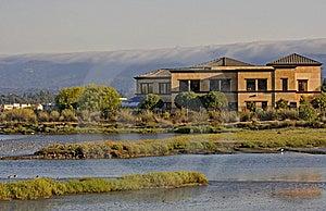 Building Near A Lake Royalty Free Stock Photo - Image: 8622335