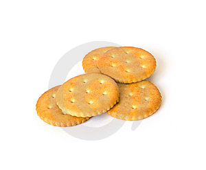 Heap Of Biscuits On White Royalty Free Stock Photography - Image: 8622387