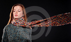 Woman In Wool Scarf Royalty Free Stock Photo - Image: 8622455