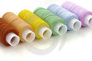 Colorful Spools Threads Stock Photo - Image: 8622790