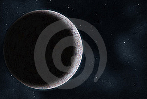 Digital Created Starfield With Planet Royalty Free Stock Images - Image: 8622929