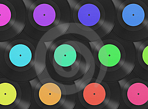Gramophone Disks Background Royalty Free Stock Photography - Image: 8623037