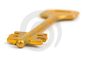 Retro Gold Key Royalty Free Stock Images - Image: 8623069