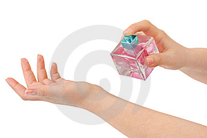 Hands And Perfume Royalty Free Stock Image - Image: 8623086
