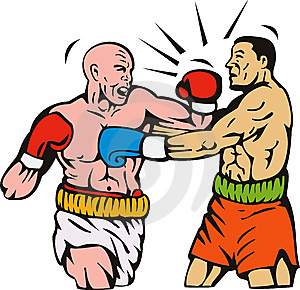 Boxer Connecting A Punch Royalty Free Stock Photography - Image: 8623157
