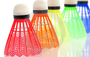 Colorful Shuttlecocks For Badminton Stock Image - Image: 8623191