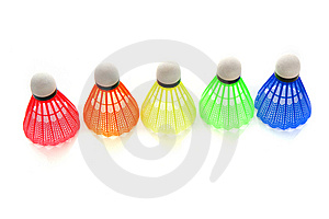 Colorful Shuttlecocks For Badminton Royalty Free Stock Image - Image: 8623236